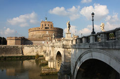 St Angel castle in Roma Stock Photos