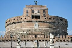 St. Angel Castle in Rome. View of Castle sant'angelo in Rome, Italy Stock Images