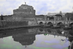 St Angel castle in Rome Royalty Free Stock Photography