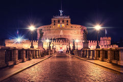 St Angel Castle Rome Stock Images