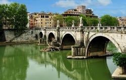 St.Angelo γέφυρα, Ρώμη, Ιταλία Στοκ Φωτογραφίες