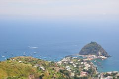 Sant angelo beach Ischia Italy stock photography