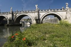 St. Angelo Bridge Royalty-vrije Stock Foto