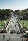St. Angelo Bridge. In Rome, Italy Stock Images