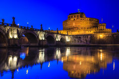 St.Angelo Bridge and Castle Sant'Angelo Royalty Free Stock Image