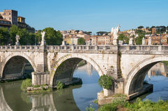 St. Angelo Bridge, Rom, Italien Stockbilder