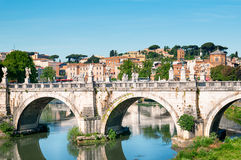 St. Angelo Bridge, Rom, Italien Lizenzfreie Stockfotos