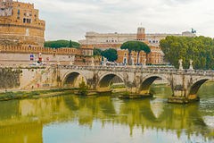 St. Angelo Bridge in Rome,  Italy. Royalty Free Stock Images