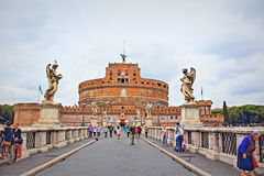 St. Angelo Bridge Rome Italy Royalty Free Stock Image