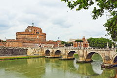 St. Angelo Bridge Rome Italy Stock Photography