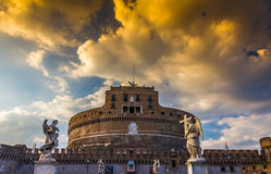 St. Angelo Castel in Rome Stock Photos