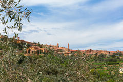 St angelo in colle. The town st angelo in colle in the tuscany Stock Photography