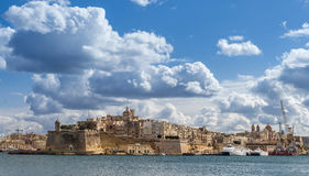 St Angelo Fort on Vittoriosa in Valletta Royalty Free Stock Images