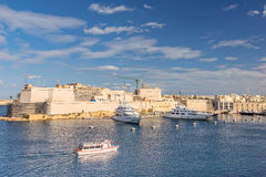 St Angelo Fort on Vittoriosa in Valletta. The re development of the harbor of Valletta Royalty Free Stock Image