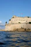 St Angelo, grande porto della fortificazione Fotografia Stock Libera da Diritti