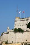 St Angelo, grande porto Malta della fortificazione Fotografia Stock Libera da Diritti