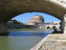 St. Angelo's Castle. View of the St. Angelo's Castle, through the arch bridge Stock Photo