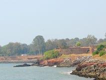 St Angelo ` s Fort - Kustfort dichtbij Arabische Overzees, Kannur, Kerala, India stock foto