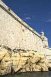St. Angelo Walls. The towering walls of Fort St. Angelo in Vittoriosa, Malta Royalty Free Stock Photos