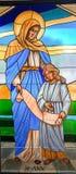 St Ann Mother de Maria imágenes de archivo libres de regalías