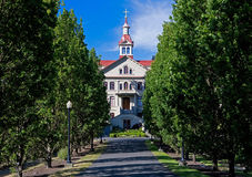 St. Ann's Academy alley. St. Ann's Academy is a Catholic school in downtown Victoria BC Canada Stock Image