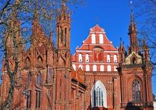 ST Anna και εκκλησία Bernardinu, Vilnius, Λιθουανία Στοκ φωτογραφία με δικαίωμα ελεύθερης χρήσης