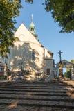 St Anna Basilica, monastero francescano della montagna e il Interna Immagini Stock Libere da Diritti