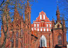 St. Anna and Bernardinu church, Vilnius, Lithuania Royalty Free Stock Photography