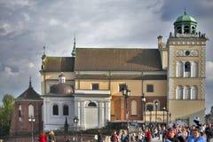 St Anna kościelny dzwonkowy wierza, Warszawa, Polska Zdjęcie Royalty Free