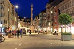 St Anna kolonn i Innsbruck royaltyfri foto