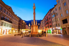 St Anna kolumna, Innsbruck Zdjęcia Stock