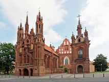 St. Anna's Church in Vilnius, Lithuania. Royalty Free Stock Photography