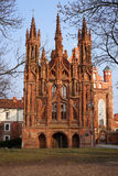 St Anna's Church in Vilnius,  Lithuania. Stock Photography