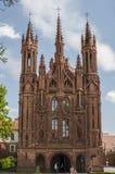 St- Anna` s Kirche in Vilnius, Litauen Lizenzfreie Stockbilder