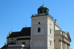 St- AnnaKirchenglocketurm, Warschau, Polen Lizenzfreies Stockbild