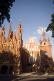 St. Anne and Bernardine Monastery, Vilnius, Lith. Stock Image