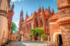 St. Anne church in Vilnius, Lithuania, HDR photo Royalty Free Stock Photography