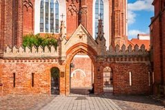 St. Anne church in Vilnius, Lithuania Royalty Free Stock Photos