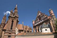 St. Anne e igreja de Bernardinu Fotografia de Stock Royalty Free