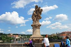 St Anne and Jesus Statue, Prague. Royalty Free Stock Image