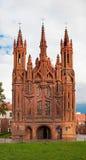 St. Anne Kerk, Vilnius Stock Foto