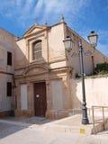 St Anne kościół, Favignana miasteczko, Sicily, Włochy obraz stock