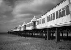 St Anne Pier, Lancashire-Küste Stockfotos