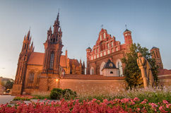 St Anne S And Bernadine S Churches In Vilnius, Lithuania Royalty Free Stock Images