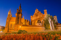 St Anne's and Bernadine's Churches in Vilnius, Lithuania Royalty Free Stock Image