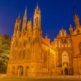 St Anne's and Bernadine's Churches in Vilnius, Lithuania Royalty Free Stock Images