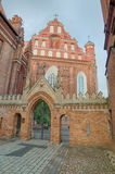 St Anne's and Bernadine's Churches in Vilnius, Lithuania Stock Photography
