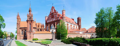 St. Anne's and Bernardinu Church in Vilnius city Stock Photos