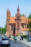 St. Anne's and Bernardinu Church in Vilnius city Royalty Free Stock Photo