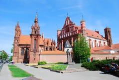St. Anne's and Bernardinu Church in Vilnius city Royalty Free Stock Image